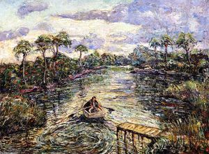 Ernest Lawson - River Through the Everglades