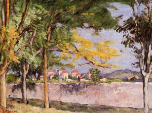 Paul Cezanne - The Road (also known as The Ancient Wall)