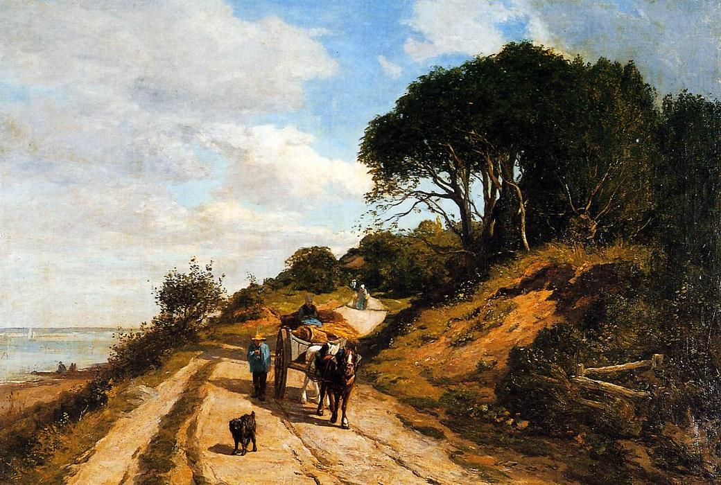 famous painting The Road from Trouville to Honfleur of Eugène Louis Boudin