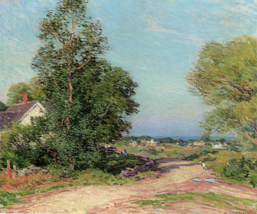 famous painting Road To Cape Porpoise of Willard Leroy Metcalf