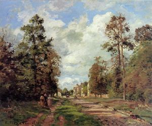 Camille Pissarro - The Road to Louveciennes at the Outskirts of the Forest (also known as The Louveciennes Road)