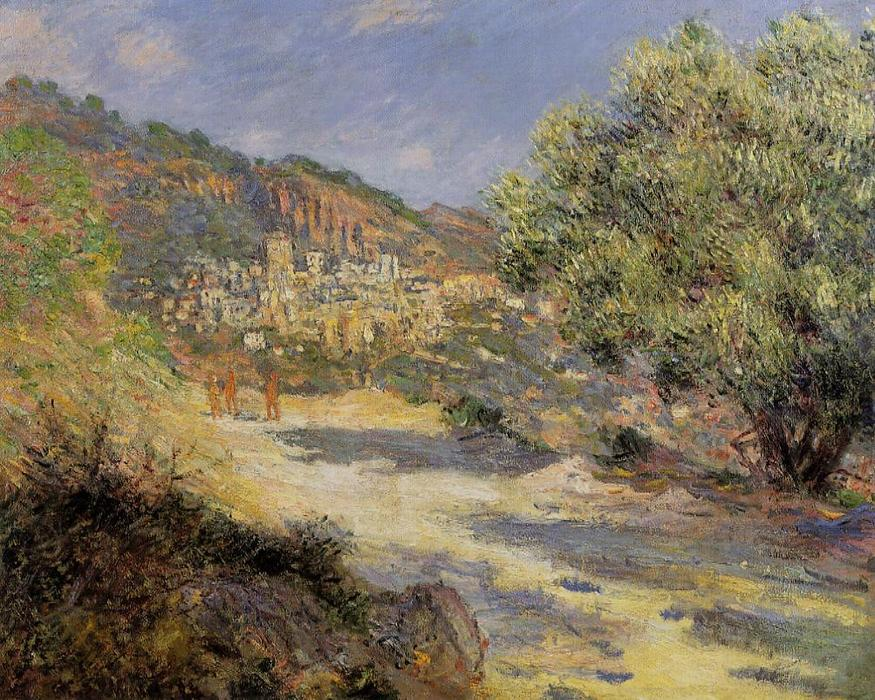 famous painting The Road to Monte Carlo of Claude Monet