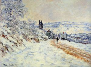 Claude Monet - The Road to Vetheuil, Snow Effect