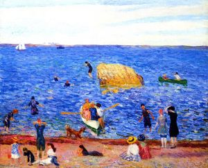 William James Glackens - Rock in the Bay, Wickford
