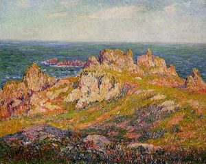 Henri Moret - Rocks by the Sea