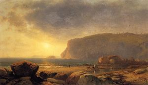 William Hart - Rocky Coast at Sunset