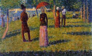 Georges Pierre Seurat - The Rope-Colored Skirt