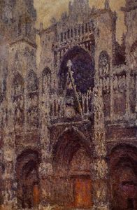 Claude Monet - Rouen Cathedral, the Portal, Grey Weather