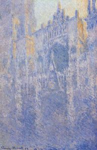 Claude Monet - Rouen Cathedral, the Portal, Morning Fog