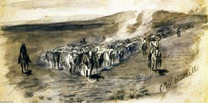 Charles Marion Russell - The Roundup