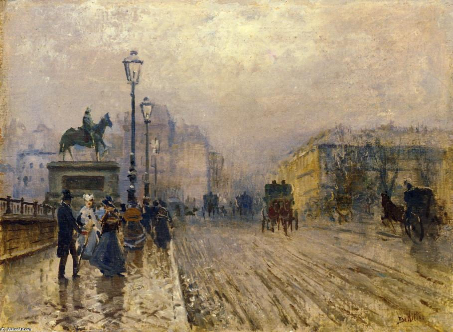 famous painting Rue de Paris with Carriages of Giuseppe De Nittis
