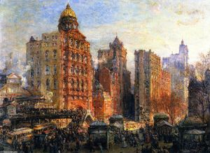 Colin Campbell Cooper - The Rush Hour, New York City