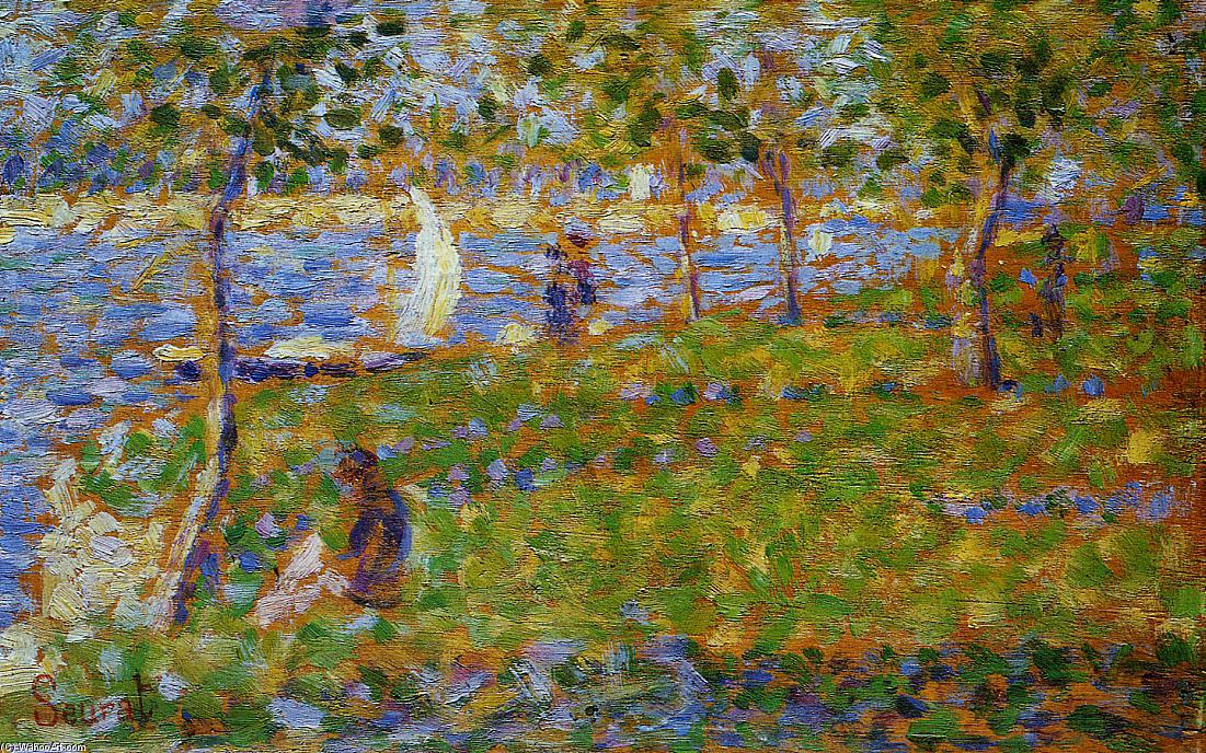 famous painting Sailboat of Georges Pierre Seurat