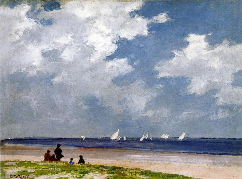 famous painting Sailboats off Far Rockaway of Edward Henry Potthast