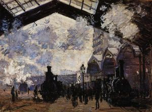Claude Monet - The Saint-Lazare Station