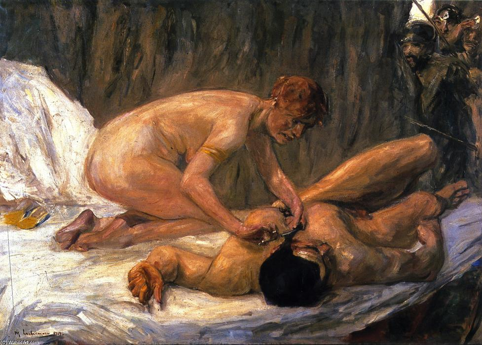 famous painting Samson and Delilah of Max Liebermann