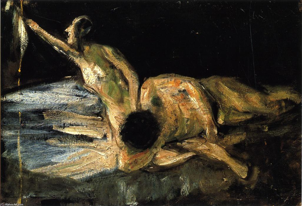 famous painting Samson and Delilah, Study of Max Liebermann