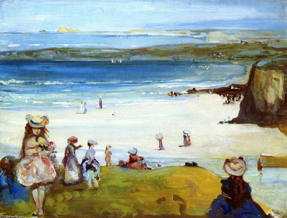 famous painting The Sands, Newquay of Charles Edward Conder