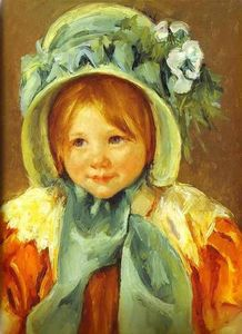 Mary Stevenson Cassatt - Sarah in a Green Bonnet