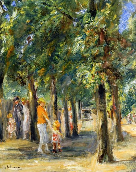 famous painting Scene in Tiergrten of Max Liebermann