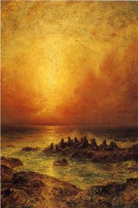 Ralph Albert Blakelock - Seal Rocks