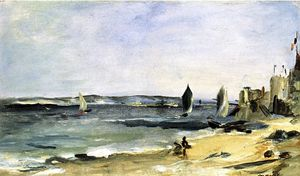 Edouard Manet - Seascape at Arcachon (also known as Arcachon, Beautiful Weather)