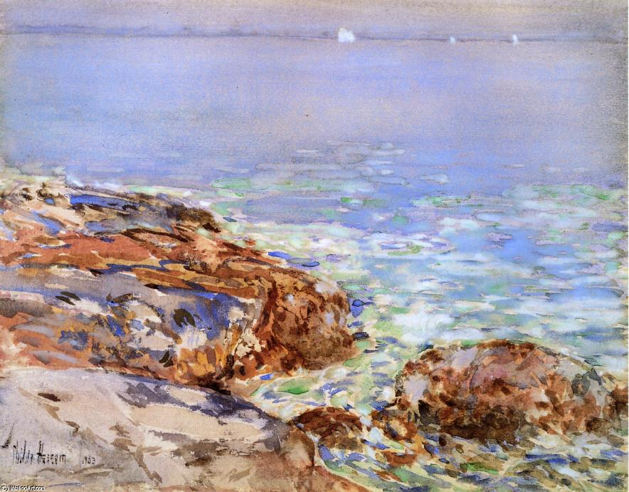 famous painting Seascape, Isles of Shoals of Frederick Childe Hassam