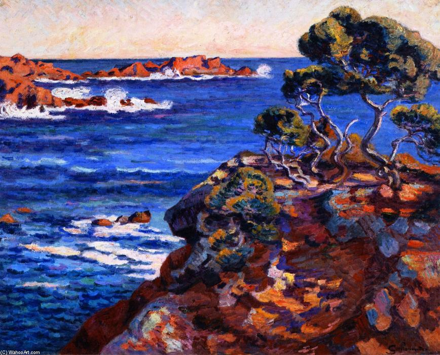 famous painting Seaside at Agay of Jean Baptiste Armand Guillaumin