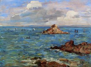 Eugène Louis Boudin - The Sea at Douarnenez