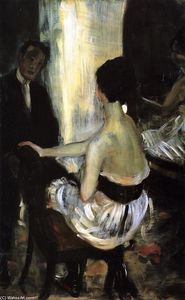William James Glackens - Seated Actress with Mirror