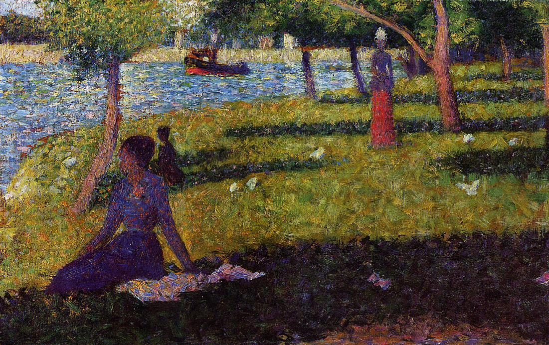 famous painting Seated and Standing Woman of Georges Pierre Seurat