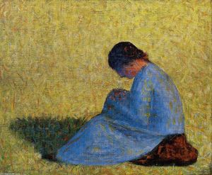 Georges Pierre Seurat - Seated Woman