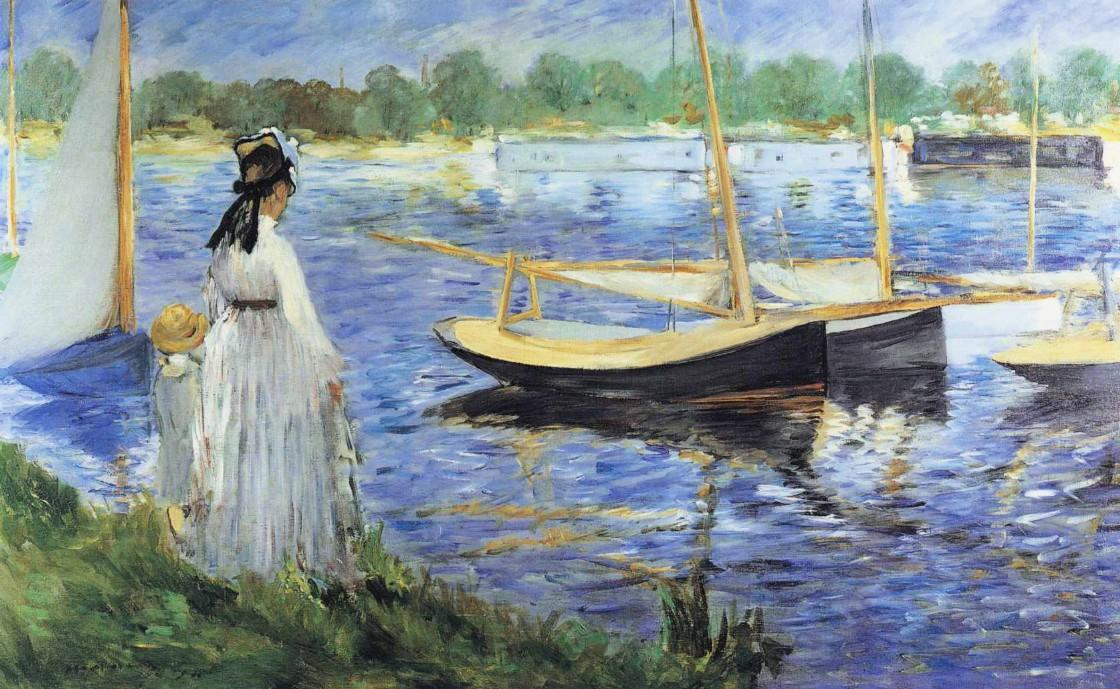 famous painting The Seine at Argenteuil of Edouard Manet