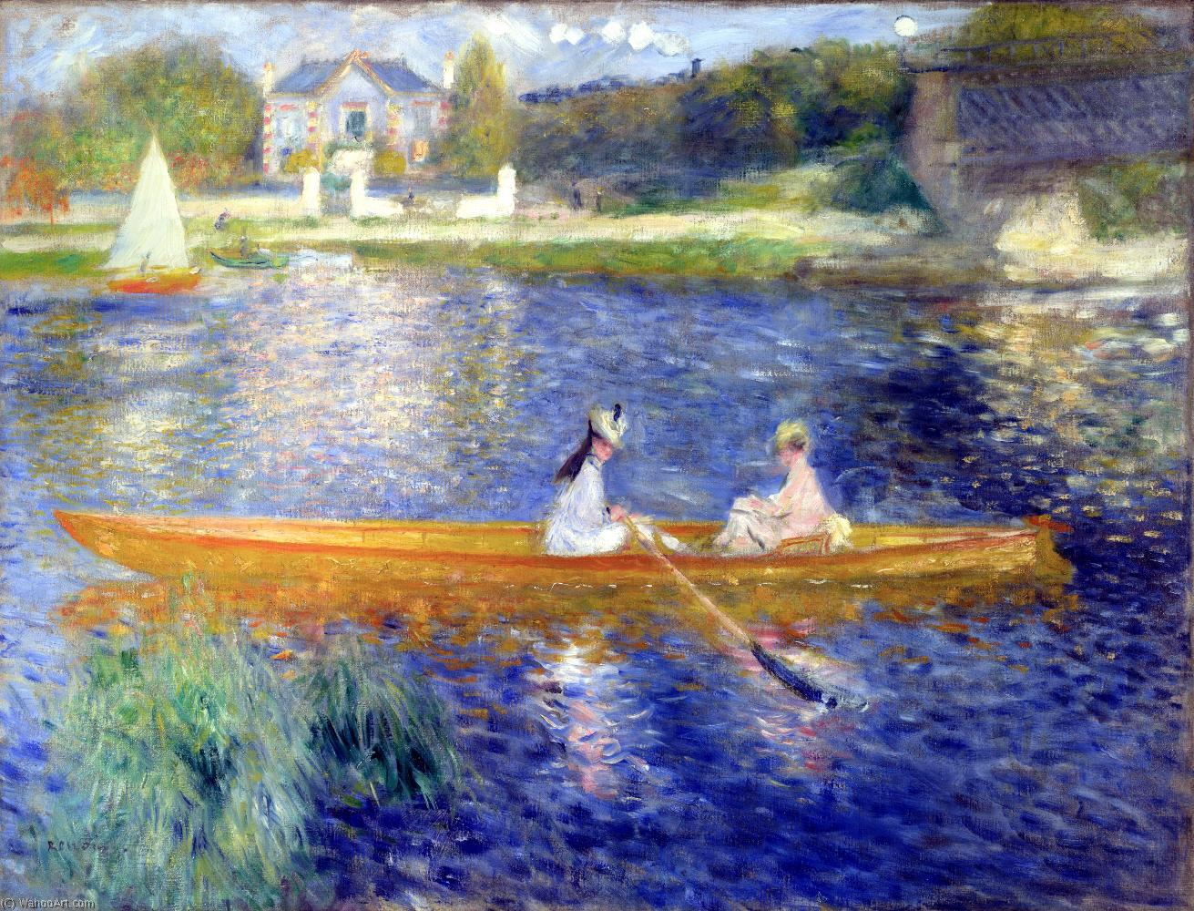 famous painting The Seine at Asnieres (also known as The Skiff) of Pierre-Auguste Renoir