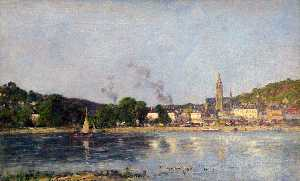 Eugène Louis Boudin - The Seine at Caudebec-en-Caux