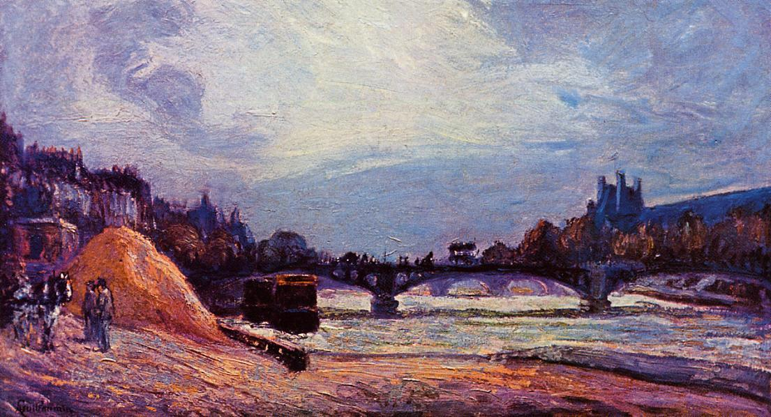 famous painting The Seine at Charenton of Jean Baptiste Armand Guillaumin