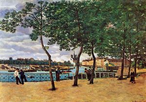Jean Baptiste Armand Guillaumin - The Seine at Paris (also known as Quai de la Rapee)
