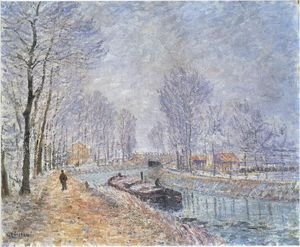 Gustave Loiseau - The Seine at Pontoise