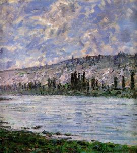 Claude Monet - The Seine at Vetheuil (detail)