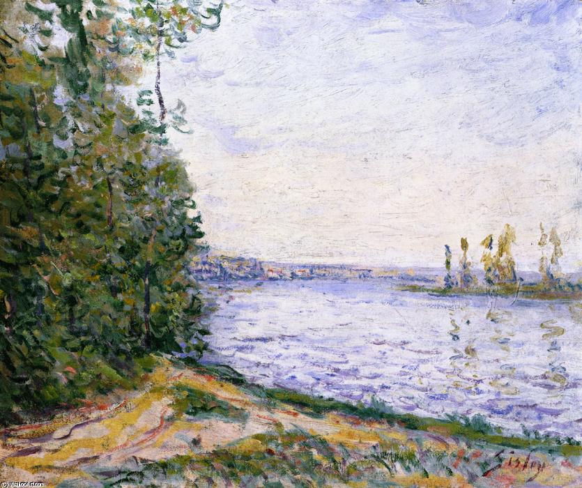 famous painting The Seine near By of Alfred Sisley