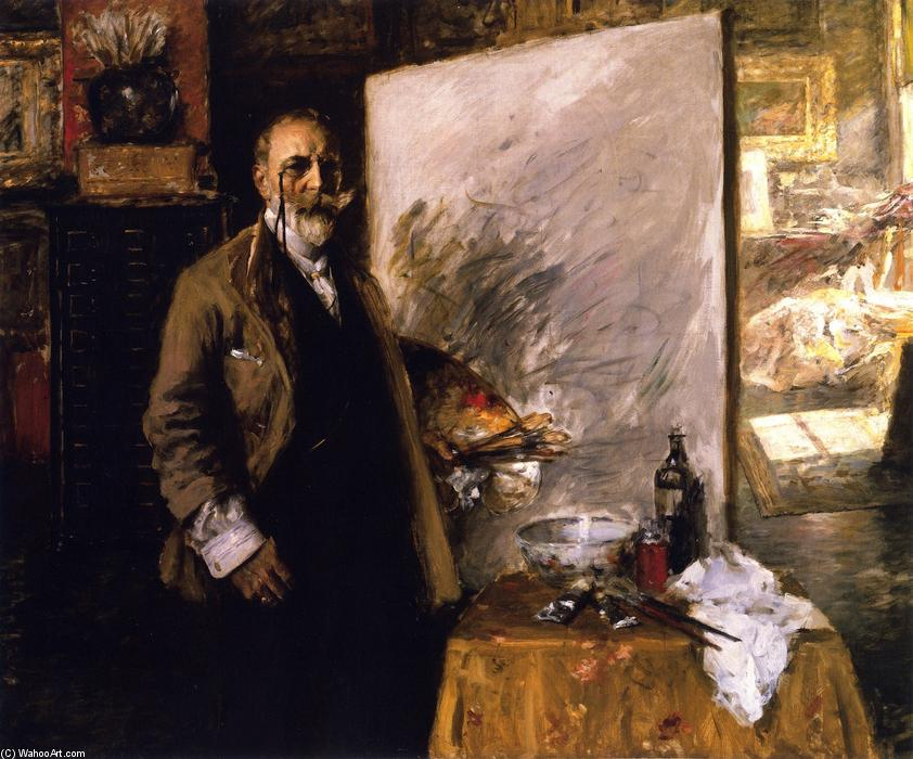 famous painting Self Portrait in the Studio of William Merritt Chase