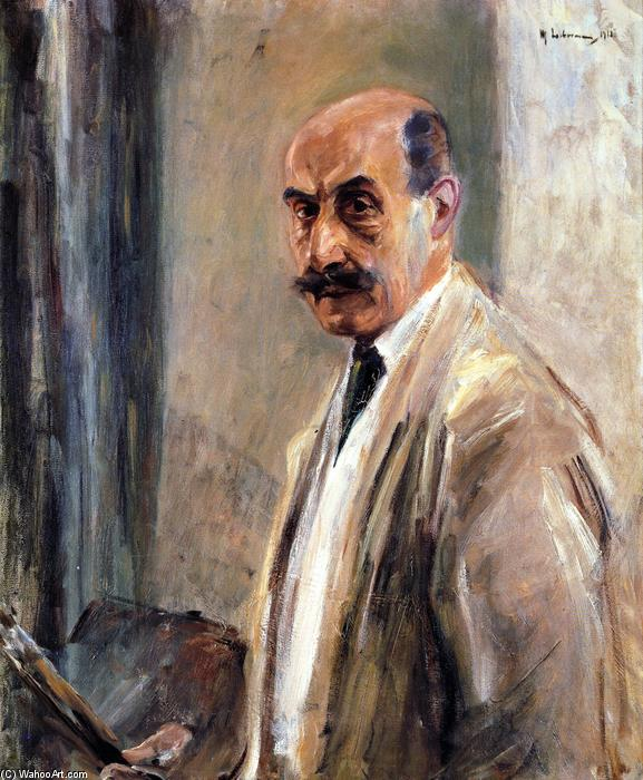 famous painting Self Portrait with Brush and Palette of Max Liebermann