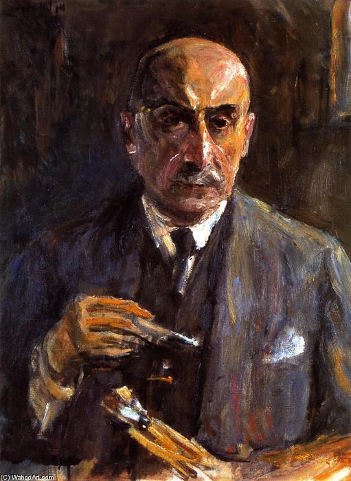 famous painting Self Portrait with Brushes and Palette of Max Liebermann