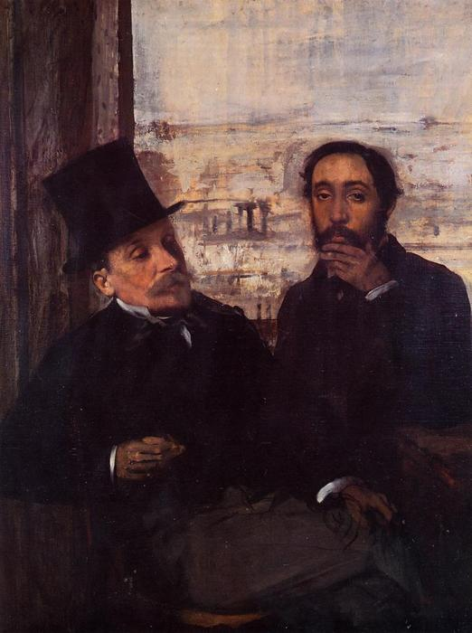 famous painting Self Portrait with Evariste de Valernes of Edgar Degas