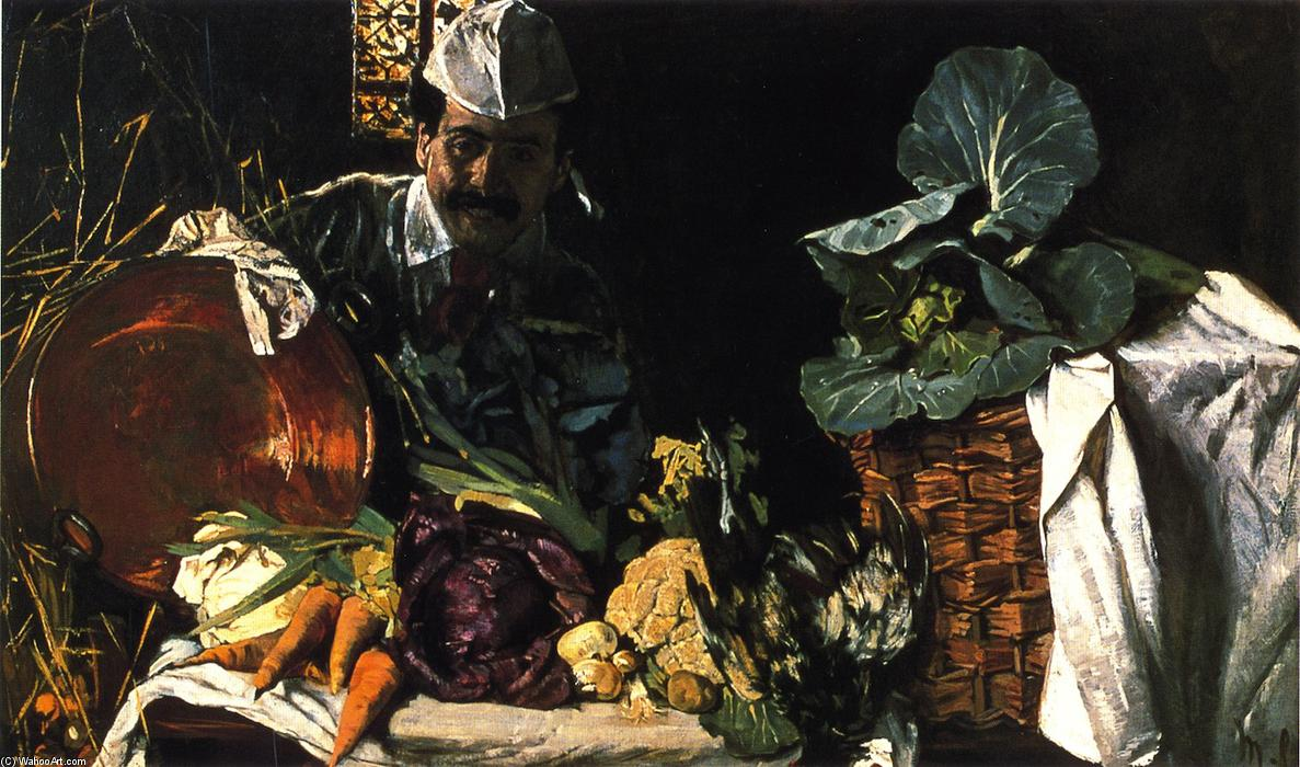 famous painting Self Portrait with Kitchen Still LIfe of Max Liebermann