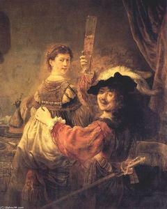 Rembrandt Van Rijn - Self-portrait With Saskia