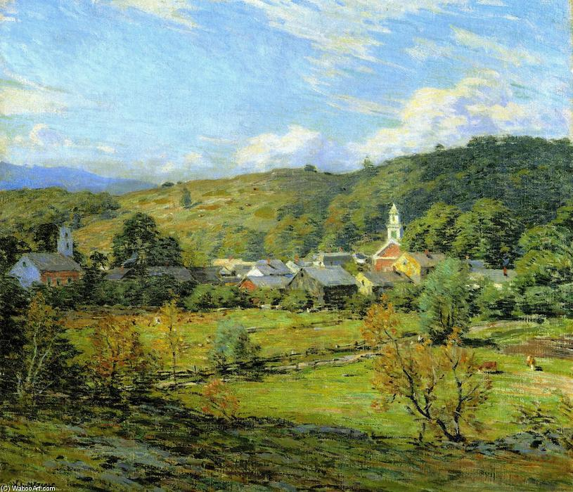 famous painting September Morning, Plainfield, New Hampshire of Willard Leroy Metcalf