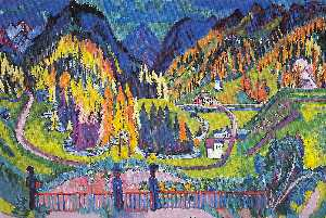 Ernst Ludwig Kirchner - Sertig Valley in Autumn