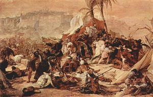 Francesco Hayez - The Seventh Crusade before Jerusalem