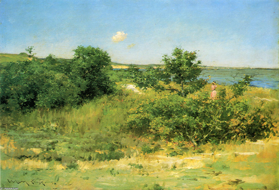 famous painting Shinnecock Hills, Peconic Bay of William Merritt Chase